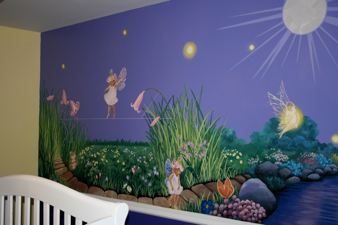 Fairy nursery design pictures cheap nursery decor for Baby room jungle mural